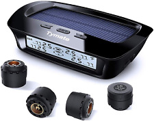 Tymate Tire Pressure Monitoring System Solar Charge 5 Alarm Modes Auto Bcklght