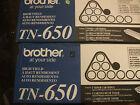 (2) pack Genuine Brother TN650  tn 650 Cartridges oem open box usa seller
