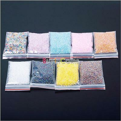 1200Pcs 2mm Colorful Glass Beads Seed Round Spacer Jewelry DIY Pearls Mini RT