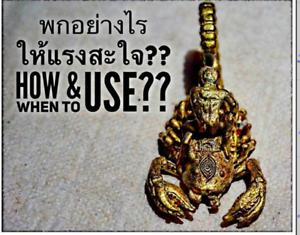 Yant Thai Amulet Scorpion King Holy Magic Attract Love Sex Arjam O Charm Luck