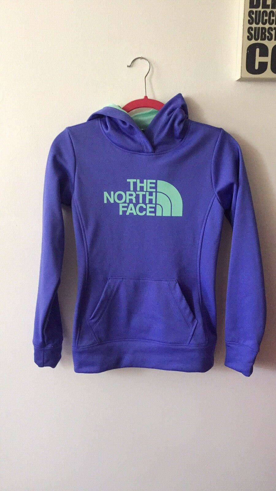 Pre-owned Womens North Face Purple Hoodie Xs