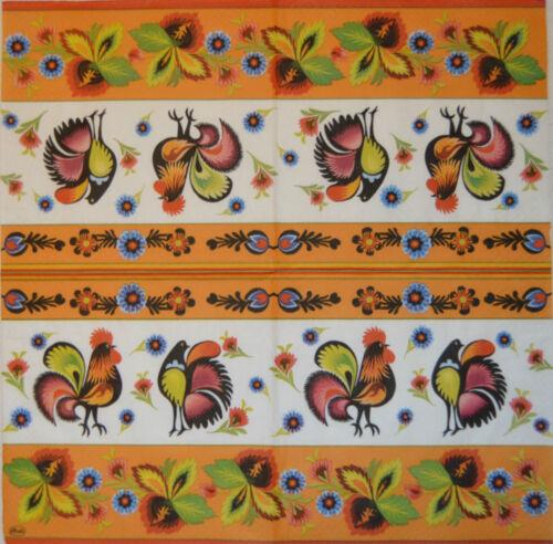 PAPER TABLE NAPKINS FOR CRAFT VINTAGE FOLCK LOWICZ DECOUPAGE TEA PARTIES 434
