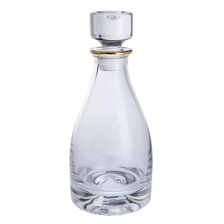 Dartington Cristal Poignée Doré Décanteur