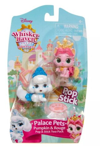 Whisker Haven Tales Palace Pets Pop and Stick 2 Pack Pumpkin and Rouge *NEW*