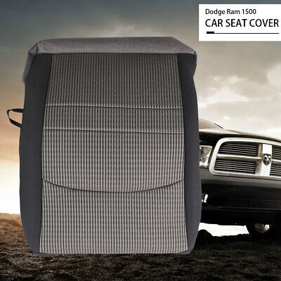 spartshome Driver Side Bottom Cloth Seat Cover Gray//Black Replacement for Driver Bottom Seat Cover Fit for 2009 2010 2011 Dodge Ram 1500 SLT