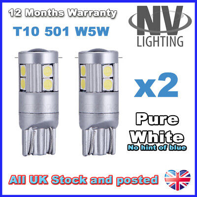 ERROR FREE CANBUS 8 SMD LED XENON HID WHITE W5W T10 501 SIDE LIGHT BULBF1 GNCA