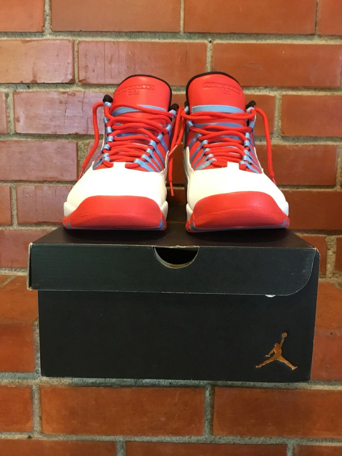 Air Jordan 10 Retro Chicago Flag Size 13 White/UniversityBlue/Crimson 310805-114