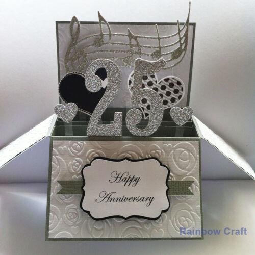 Handmade Anniversary cardNumber Personalised Handmade 25 Anniversary card