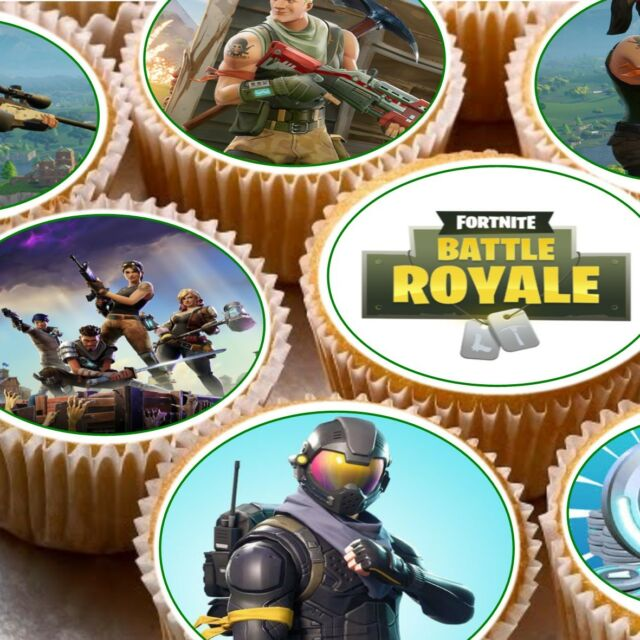 24 Edible Cupcake Fairy Cake Toppers Decorations Fortnite ...