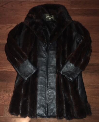 Womens Leon leather froshin Vtg Size Coat S Fur vg7wWxAPq