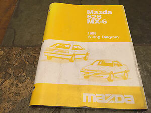 image is loading 1988-mazda-mx-6-626-electrical-wiring-diagram-