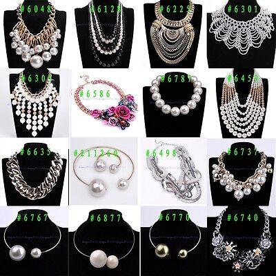 Hot Selling Fashion Mixed Style Crystal Collar Choker Bib Big Statement Necklace