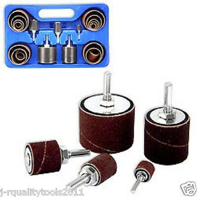 SANDING ROUND DRUM SET FOR WOOD DRILL PRESS SANDER SLEEVES TOOL WOODWORKING KIT