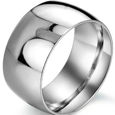 12MM Ring SZ 7 8 9 10 11 12 13 14 15 Stainless Steel Wedding Anniversary Biker