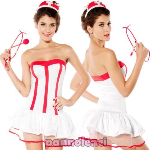 Costume vestito carnevale donna INFERMIERA abito travestimento Halloween DL-644