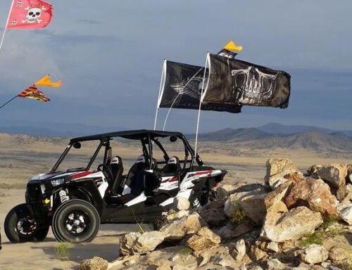 "NO mount RED 1//2/""x 6/' Fiberglass Whip Pole for 3/'x5/' UTV ATV Sandrail Flags"