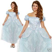 Ladies Adult Cinderella Fairy Tale Princess Fancy Dress Costume Size: 10 12 14