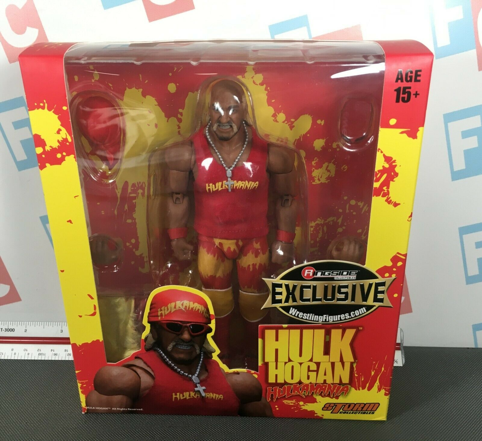 WWE Wrestling Storm Collectibles 112 Scale Series rosso Hulk Hogan cifra
