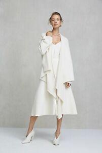 Nwt $449 Designer Country Road Italian Pure Cashmere Drape Front Cardigan Wrap Refreshment
