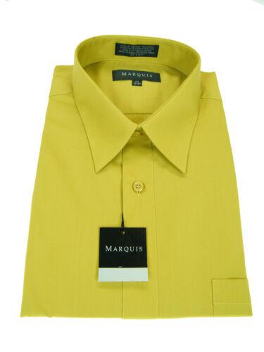 MEN/'S MARQUIS Gold Long Sleeve Dress Shirt SIZE 4XLARGE