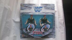 WWF 2 Tuff Series 1 Interrogator & Rekon Action Figures From Jakks 1998 NEW t628