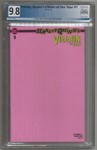 Harley Quinn Villain of the Year #1 Pink Sketch Variant 9.8 NM/MT LIMITED 1500