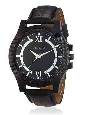 Texus(TXMW027) Black Strap Watch for Men/Boys
