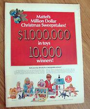 1967 Mattel Ad Dolls Baby Hundry Space Station Barbies Guns Lone Ranger