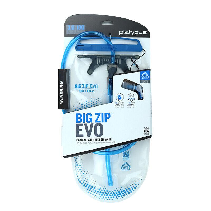 PLATYPUS BIG ZIP EVO HYDRATION RESERVOIR BPA//BPS FREE TASTE-FREE WATER SYSTEM