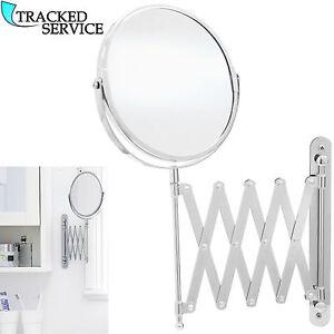 extending wall mounted mirror bathroom cosmetic shaving mirror magnifying makeup ebay. Black Bedroom Furniture Sets. Home Design Ideas
