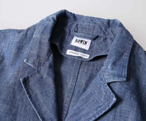 Suit Jacket Edwin Blue MixteM ChambrayStone PiukOXZ