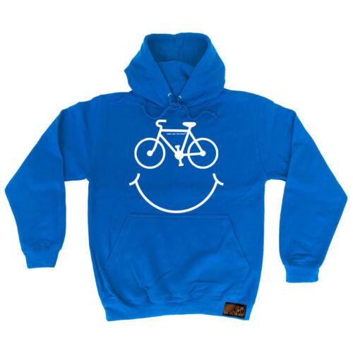 Felpa con Cappuccio Ciclismo Bici sorridente con Cappuccio Top Giacca a vento FUNNY birthdayáhoody