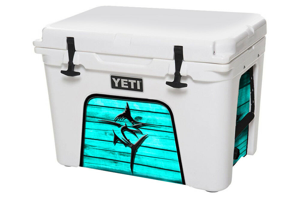 USATuff Cooler Decal Wrap fits YETI Tundra 110qt Lower Insert Marlin Teal