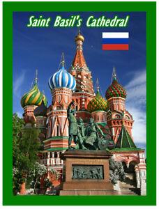 St Basilic Cathédrale - Moscou - Souvenir Nouveauté Réfrigérateur Aimant / Sites
