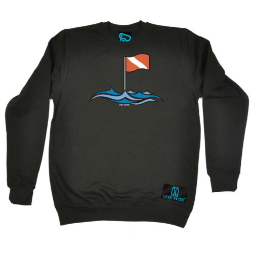 Discount Scuba Diving Sweatshirt Funny Novelty Jumper Top - Flag Waves for cheap