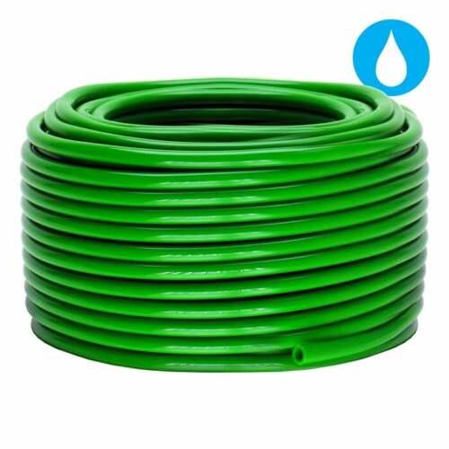 GROW1 1//4/'/' x 100/' Green Vinyl Drip Tubing Soft Flexible SAVE $$ W// BAY HYDRO $$