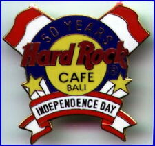 Hard Rock Cafe BALI 1995 50th Independence Day PIN Flags & Logo HRC Catalog #642