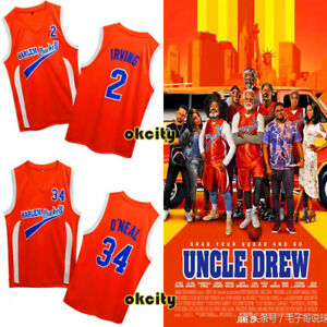 hot sale online 287a4 3716d Details about Uncle Drew Movie Kyrie Irving Shaquille O'Neal HARLEM BUCKETS  Men Jersey Top