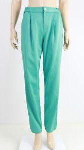 Karen-Millen-Womens-Green-Elastic-Waist-Casual-Evening-Trousers-UK-10-EUR-38
