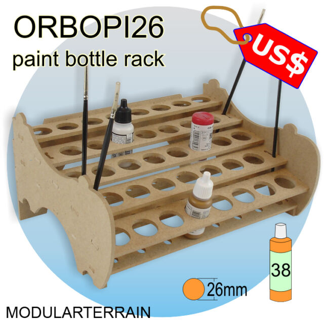 ORBOPI26 MODULAR STACKABLE PAINT BOTTLE RACK HOLDER ORGANIZER 38 VALLEJO ANDREA