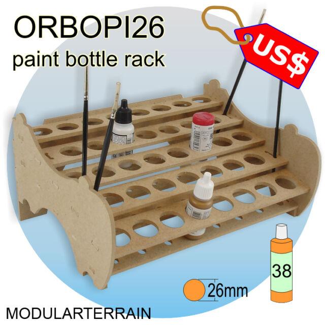 ORBOPI26 MODULAR STACKABLE PAINT BOTTLE RACK HOLDER ORGANIZER 38 VALLEJO ANDREA