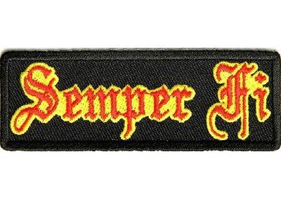SEMPER FI - USMC -  MOTORCYCLE BIKER JACKET LEATHER VEST MILITARY PATCH
