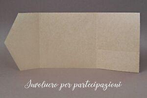 Partecipazioni Matrimonio Carta Kraft.Involucro Busta Per Partecipazione Matrimonio Quadrata Carta Kraft