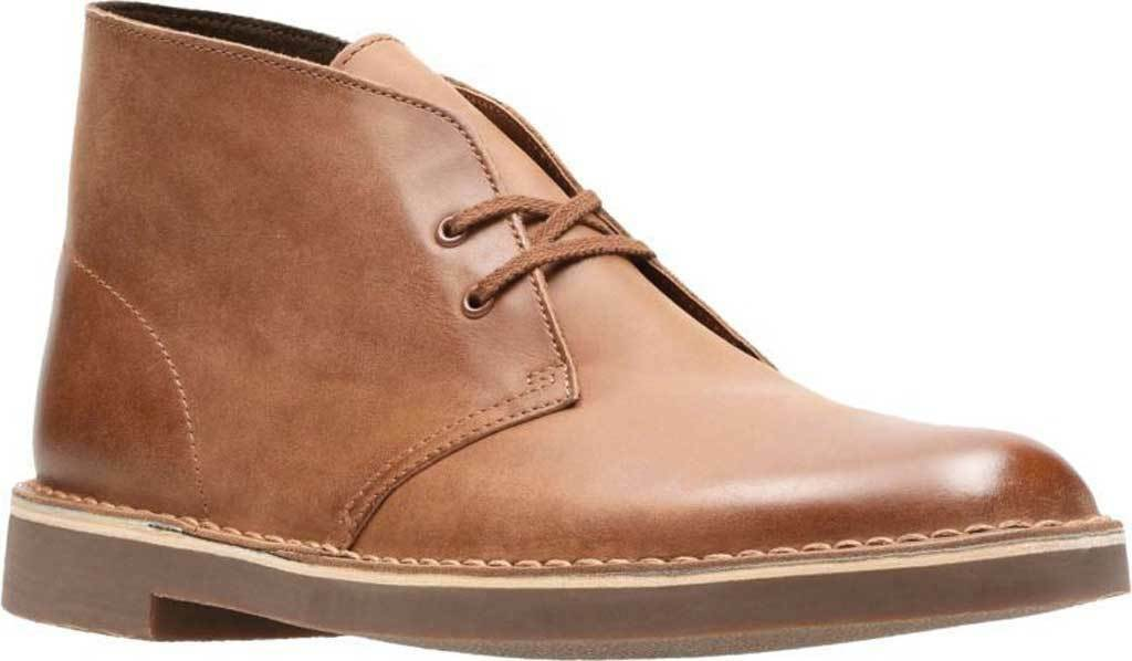 9e13171331 NEW Uomo Clarks Bushacre 2 Dark Tan Marrone Leather Chukka stivali scarpe  AUTHENTIC