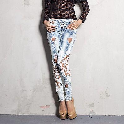 FOGGI Damenjeans Jeans Damenhose Hose Röhrenjeans Hüftjeans Hüfthose 34-38 #F22