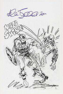 Marvel Comics Captain America and The Red Skull Vintage  Photo Art Prints Circa