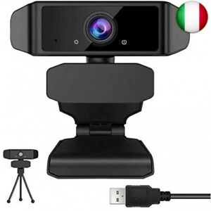 GEHUAY Webcam per PC con Microfono - Otturatore Webcam 1080P 30fps Telecamera