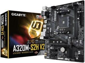 Gigabyte-GA-A320M-S2H-V2-Motherboard-AMD-Socket-AM4-2x-DDR4-Slots-up-to-32GB
