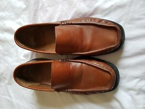 f7eb719e91 Image is loading MENS-STERLING-AND-HUNT-BROWN-SLIP-ON-SHOES-
