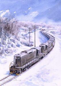 PENNSYLVANIA RAILROAD Diesel Train Yuengling Pottsville ... |Reading Railroad Train Art Prints
